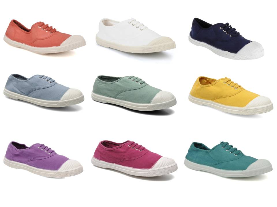 French Canvas Tennis Shoes