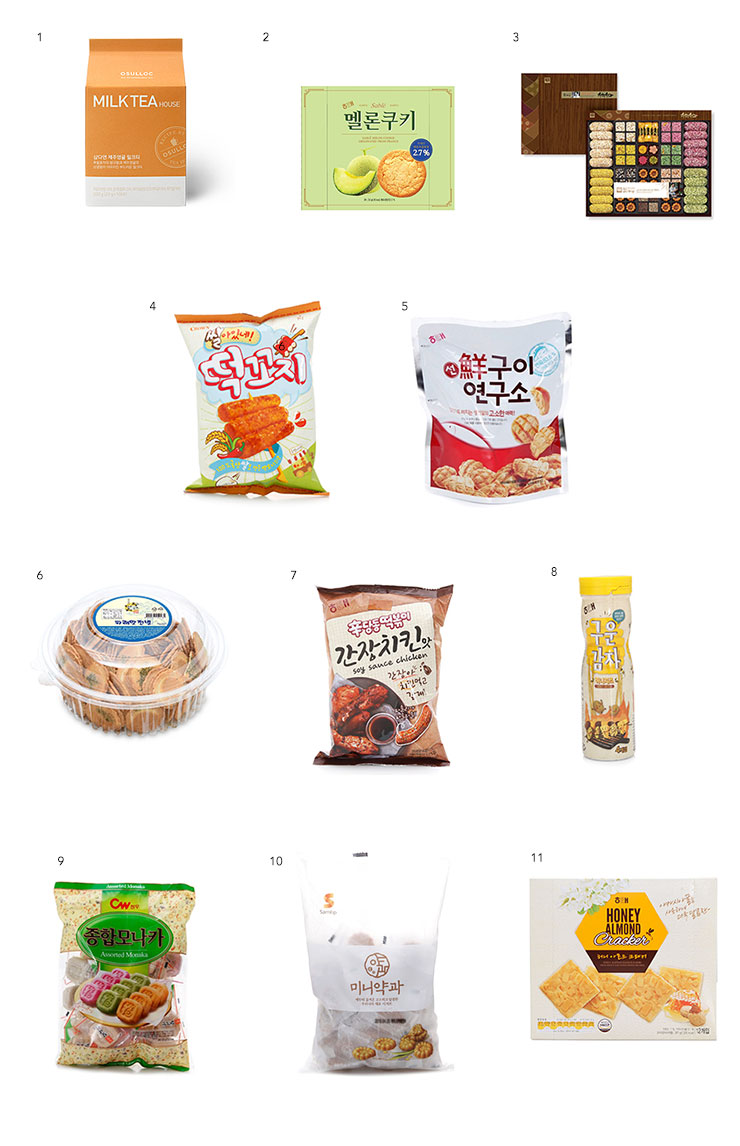 chinese new year snacks korea