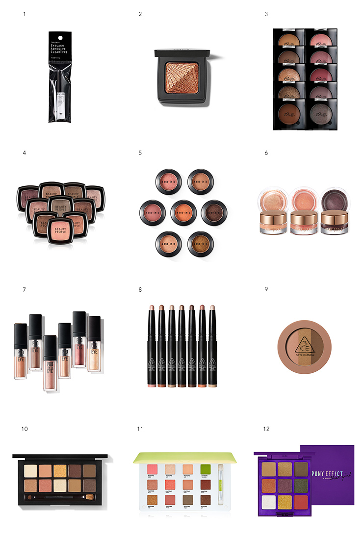 korean eyeshadows