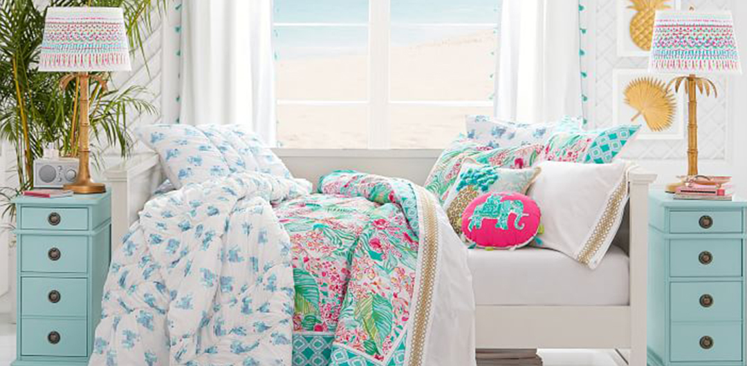 lilly pulitzer pottery barn