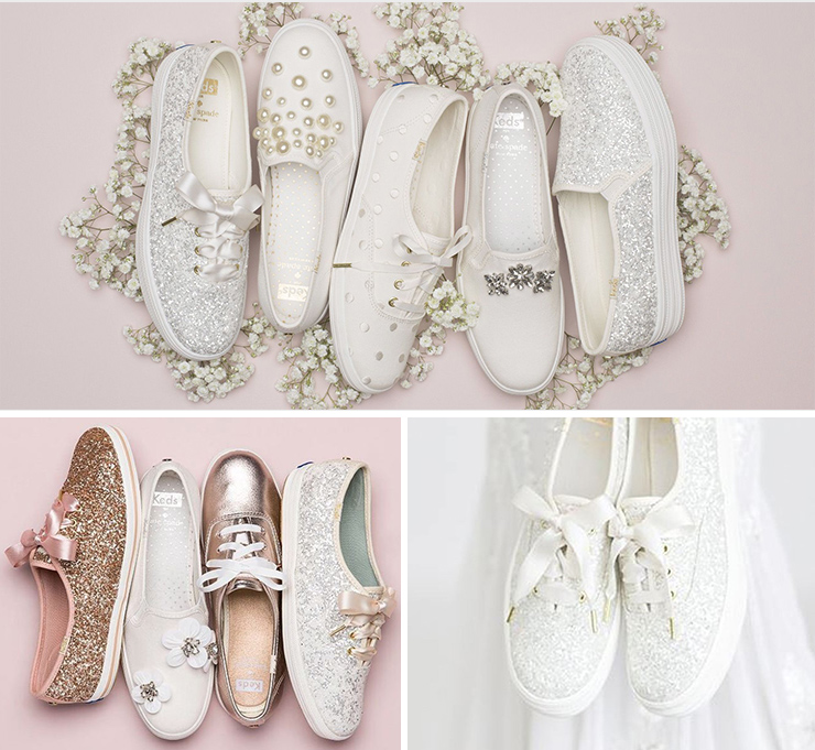 4fbca054e8e3 Kate Spade New York Champion Glitter, Keds, USD85, + Add To Wishlist: The  most recent partnership Keds launched was an exclusive wedding range with  Kate ...