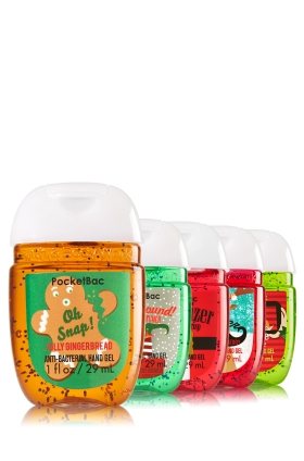 Bath and Body Works Santa Whimsy 5-Pack Pocketbac Sanitizers