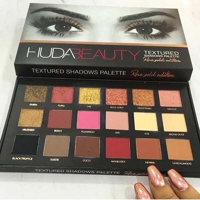 Huda Beauty Textured Rose Gold Palette