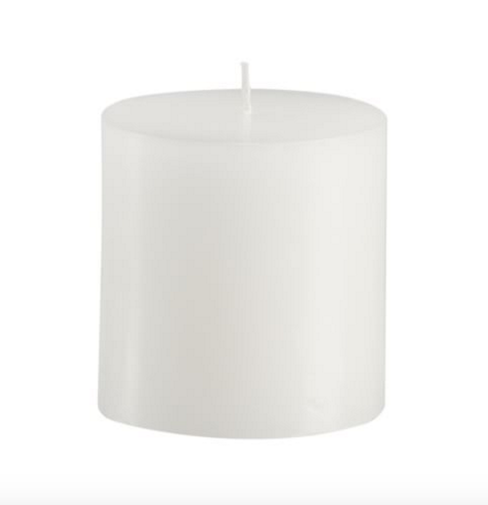 Pottery & Barn Pillar Candle White