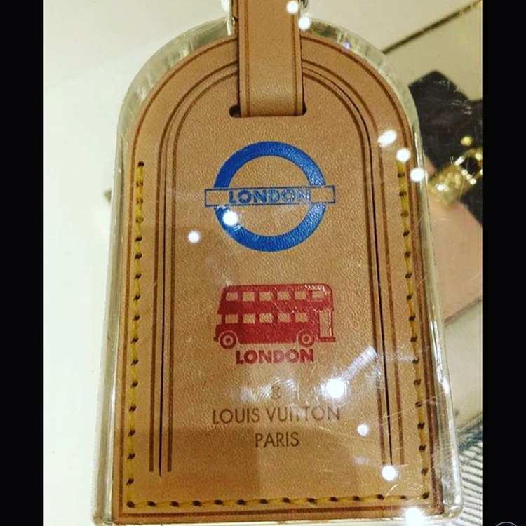 3a3fda45197 ShopandBox - Buy Luggage tag stamped with London bus from GB