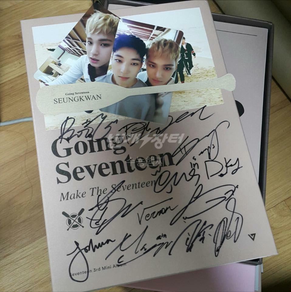 Shopandbox Buy Going Seventeen Signed Album From Kr Mini 3th