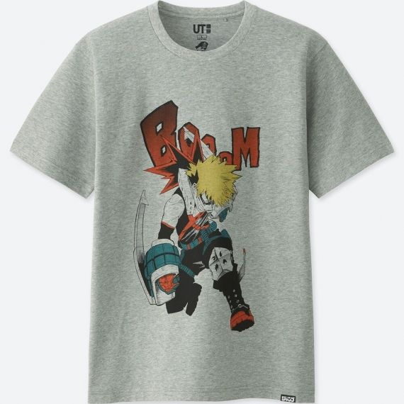 83333ebe Uniqlo JUMP 50th Short Sleeve Graphic T-Shirt (MY HERO ACADEMIA) S