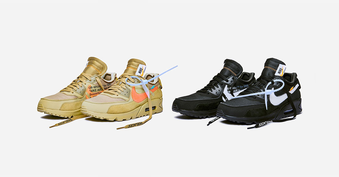 nike off white air max 90 desert ore