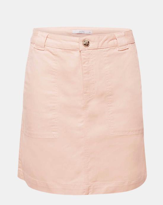 Stretch denim skirt with organic cotton