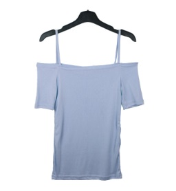 Modal Strap Off Shoulder Short Sleeve Tee