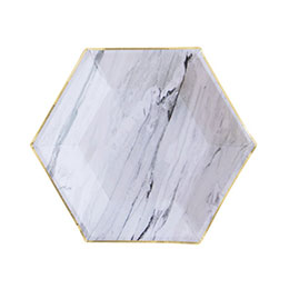 Goddess Marble Hexagon Party Plates Small