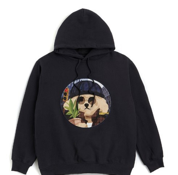 Movie Man Dog Patch Hoodie