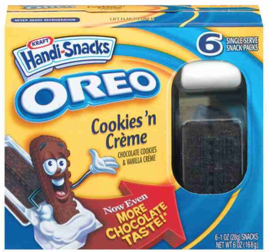 Handi-Snacks Oreo Cookies N Creme Snack Packs