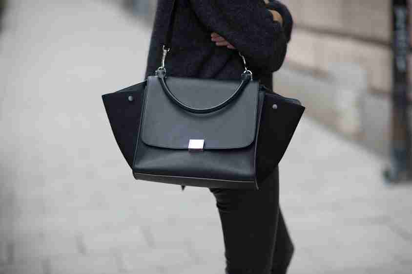 celine bag luggage tote price - celine black trapeze bag