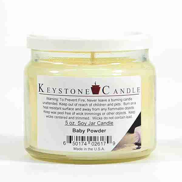 Baby Powder Soy Jar Candles 5 oz