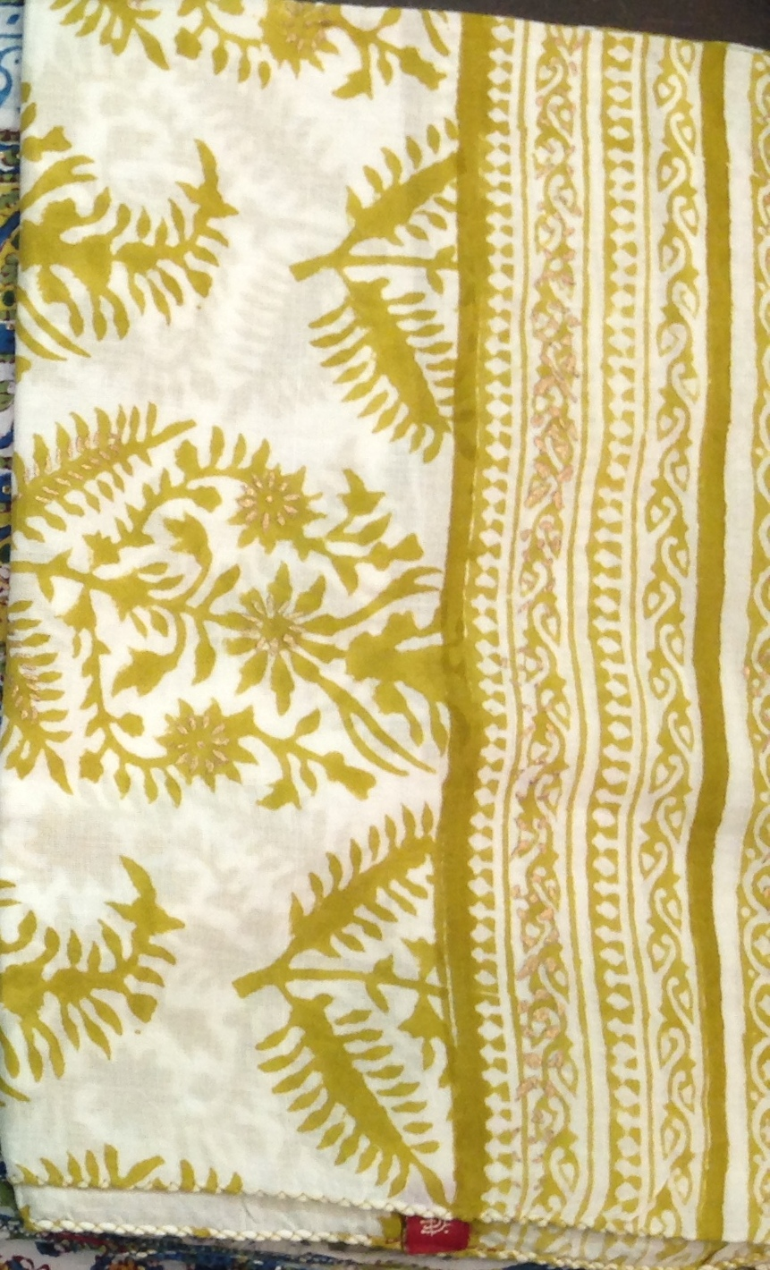 Anokhi Cotton Voile long rectangular scarf